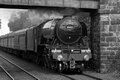 Flying Scotsman approaching Queen Margaret Stn, Dunfermline by Dave Banks Photography